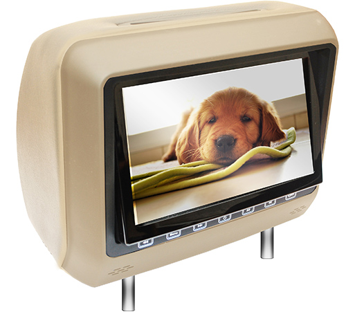 "MOTORMAX 8"" BEIGE HEADREST DVD"